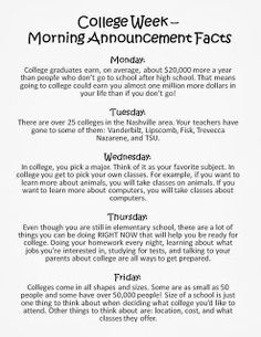 The Responsive Counselor: College Awareness Week