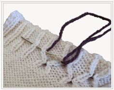 TECHknitting: Invisible afterthought smocking: a useful (and mysterious!) trick