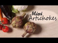 Simple Artichokes - Miniature Food - Polymer Clay Tutorial - YouTube