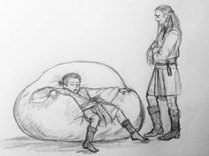 Little Obi-Wan and his master Qui-Gon
