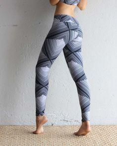 Leggings - Organic Cotton Leggings - Printed Leggings - Pyramid - Yoga Clothing