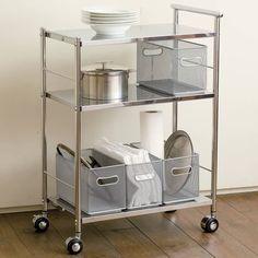 ステンレス キッチンカート 通販 ディノス ステンレスキッチン キッチンカート 無印キッチン収納