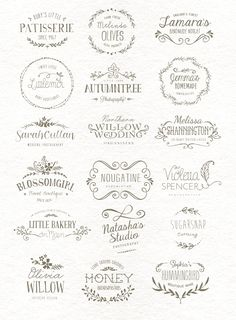 I love the font and style of the Autumntree, Wedding Willow and the font for Shannington. Buy them at Creative Market - Part of a designers Kit