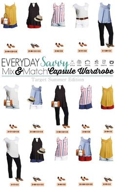 Here is a new Target Summer Capsule wardrobe with cute shorts, drapey tops and red, white and blue outfits that would be perfect for Fourth of July.