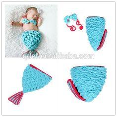 Die kleine Meerjungfrau gehäkelten baby schlafsack, häkeln baby kokon meerjungfrau muster, baby meerjungfrau kostüm
