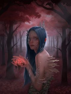 Miranda_Meeks_Art_Illustration_Forest_Girl.jpg (768×1024)