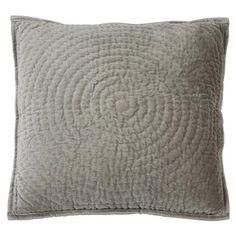 ACHICA | Socha Velvet Cushion, Grey 50 x 50 cm