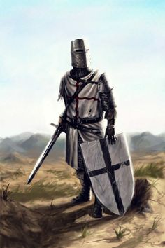 Defensor de la cristiandad, Templario o de otra de las muchas órdenes que existieron.