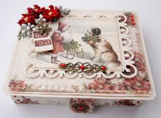 Report from my pysselvrå Altered Boxes, Altered Art, Old Fashioned Christmas, Vintage Shabby Chic, Paper Cards, Cardmaking, Christmas Cards, Decorative Boxes, Scrapbooking