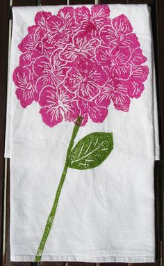 Pink Hydrangea Kitchen Towel from The Southern Home