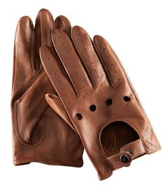 H & M   Driving gloves in soft leather with a hole pattern and press-stud.     Leather gloves £24.99