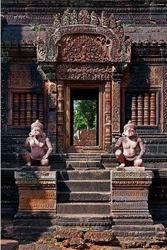 Banteay Srei, Cambodia. Banteay Srei is a 10th-century Cambodian temple dedicated to the Hindu god Shiva. Located in the area of Angkor in Cambodia.