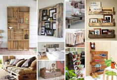 Have you ever seen recycled pallets used to make all kinds of things? Well in this article we have 30 DIY furniture ideas made from used wooden pallets. Pallet Crafts, Pallet Projects, Home Projects, Pallet Ideas, Crate Ideas, Crate Crafts, Wood Ideas, Garden Projects, Diy Furniture Making