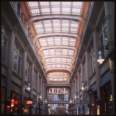 Mädler Passage in #Leipzig with Auerbach's Keller (you know, with #Goethe's #Faust.)