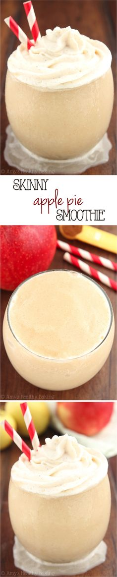 Skinny Apple Pie Smoothie -- SO good! It tastes just like the pie is only 73 calories!