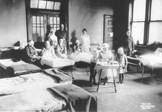 Victims of the Halifax explosion ( mostly children) recovering in the hospital. Halifax Explosion, Anglican Church, A Hundred Years, Nova Scotia, Explosions, History, Maritime Museum, November, Canada