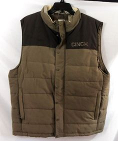 CINCH JEANS MENS VEST Western Cowboy Outerwear PUFFER Rodeo NWT XXL  last one $59! our prices are WAY BELOW RETAIL! all JEWELRY SHIPS FREE! www.baharanchwesternwear.com baha ranch western wear ebay seller id soloedition