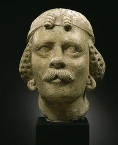 Head of a man. 4/5 Century - Produced in Gandhara. © Foto: Museum für Asiatische Kunst der Staatlichen Museen zu Berlin - Preußischer Kulturbesitz