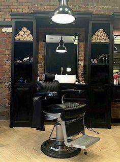 Barber Shop Inspiration- Decor Ideas and Design Buyrite Beauty Salon Equipment Vintage Modern Modern Barber Shop, Barber Shop Vintage, Best Barber Shop, Barber Shop Interior, Barber Shop Decor, Beauty Salon Interior, Salon Interior Design, Salon Design, Barber Poster