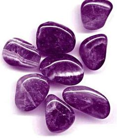 Purple polished stones
