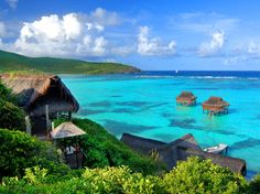 Canouan Island in the Grenadines..yes been there and tried spas...amazing view