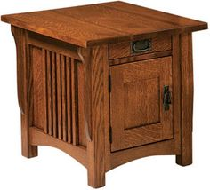 Amish Outlet Store : Logan End Table in Oak