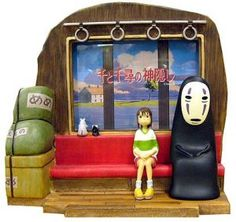 photo Frame & Book Stand- Sen Kaonashi Bounezumi Haedori - Spirited Away Book Stands, Spirited Away, Photo Picture Frames, Polymer Clay Projects, Miyazaki, Rare Photos, Studio Ghibli, Clay Art, Cool Things To Buy