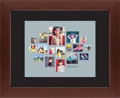 Gallery Collage of Seventeen Framed Print, Brown, Contemporary, None, Black, Single piece, 8 x 10 inches