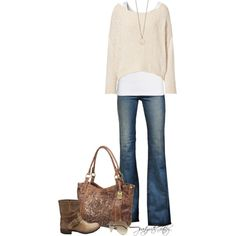 Cream by partywithgatsby on Polyvore featuring rag & bone, Splendid, J Brand, Fiorentini + Baker, Frye, Minor Obsessions and Gucci