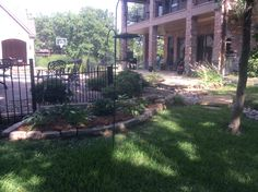 GroundScape installed a new flower bed with hostas.