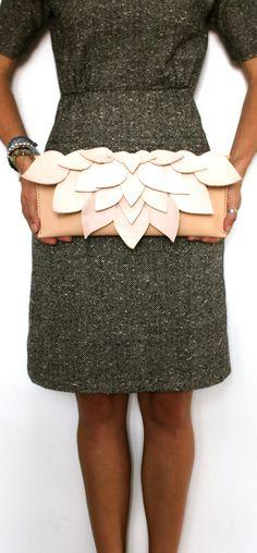 Leather Clutch Bag Purse Handmade in Australia by econiccurrumbin