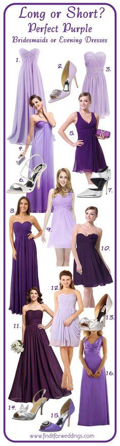 Purple bridesmaid dresses and shoes to match www.finditforwedd... designer bridesmaid shoes wedding shoes Shoemallfashion.com