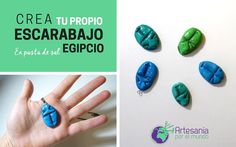 DIY-  Escarabajo egipcio: crea tu propio colgante en pasta de sal.  ¡Y descubre el significado oculto tras este símbolo de Egipto!