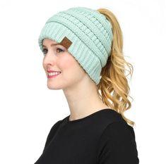 7355cd898a3 CC - Women s Beanie Tail Cable Knit Beanie Cc Beanie