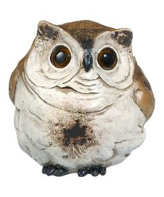 Take a look at this Brown & Ivory Hooters Single Owl Figurine by GANZ on #zulily today!
