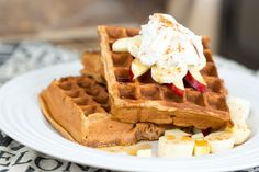 Easy make ahead waffles and your new Free meal plan and shopping list from www.civilizedcavemancooking.com