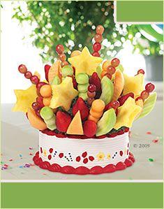 fruit skewer arrangement