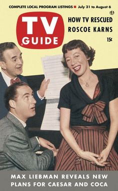 TV Guide, July 31, 1953 - Sid Caesar and Imogene Coca