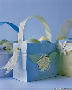 Paper Easter Baskets How-To