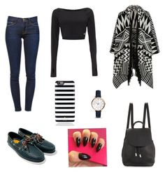 """""""Dark simple style⚫️"""" by barbarasoraya ❤ liked on Polyvore featuring Frame Denim, adidas, Accessorize, rag & bone, Kate Spade and FOSSIL"""