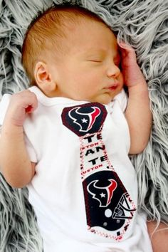 Houston Texans Onesie, Tie Onesie, NFL Football.