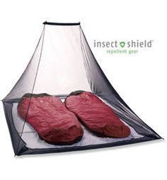 Ugh... Mosquitoes when you camp suck, but sleeping under the stars ROCKS!  So here ya go!  Hang this puppy and sleep away!