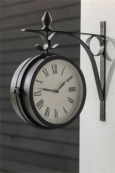 Home Decor - Wall-mounted Double Sided Clock - EziBuy New Zealand. $50 (usually $70). Cool for outdoor area so you can tell time?