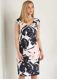 Roman Originals Pleated Floral Print Dress #kaleidoscope #occasionwear