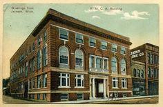 "MI Jackson ""Greetings from Jackson Michigan"" Y M C A Building 1912 Postcard | eBay"
