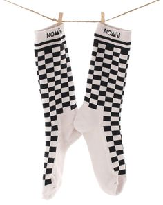 Checkerboard Socks in Light Grey and Black by Nom*D Socks, Black And White, Grey, Summer, Fashion, Gray, Moda, Summer Time, Black N White