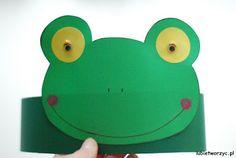 Żabka - papierowa opaska na głowę w wersji DIY ;)  #żaba #żabka #diy #zróbtosam #handmade #opaska #headband #paper #paperheadband #craft #crafts #papercraft #papercrafts #przedszkole #kindergarten #nurseryschool #preschool #lubietworzyc #blog