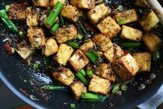 Black Pepper Tofu....with three kinds of soy sauce.  Yum.