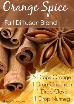 DIY Orange Spice blend for your diffuser. #essentialoils #YoungLiving