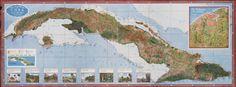Mapa de los Paisajes de Cuba | Map of the Landscapes of Cuba | 1949 | Gerardo Canet & Erwin Raisz